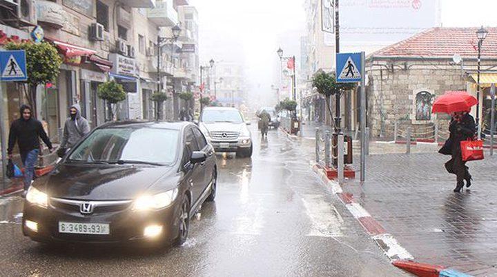 كميات الامطار الهاطلة على محافظات الضفة منذ بداية الموسم
