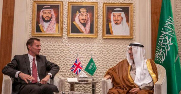 وزير خارجية بريطانيا يناقش ملفي اليمن وحقوق الإنسان في الرياض