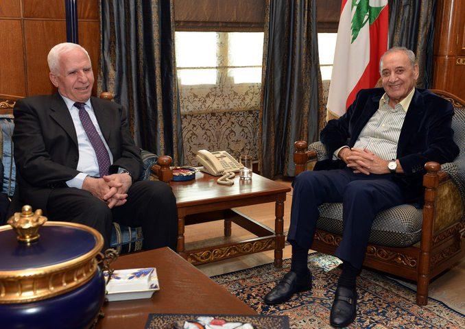 الأحمد وبري يؤكدان على ضرورة استقرار المخيمات الفلسطينية في لبنان