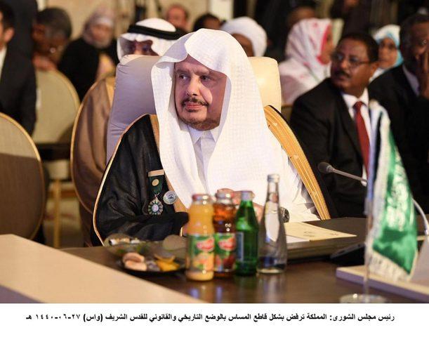 آل الشيخ: لا يمكن القبول بأي مساس بالقضية الفلسطينية