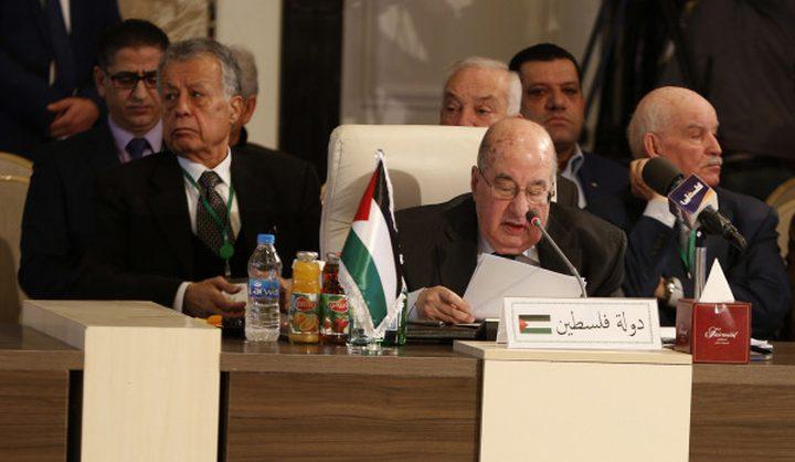 الزعنون يطالب الاتحاد البرلماني بتبني قرارات تحرِّم التطبيع