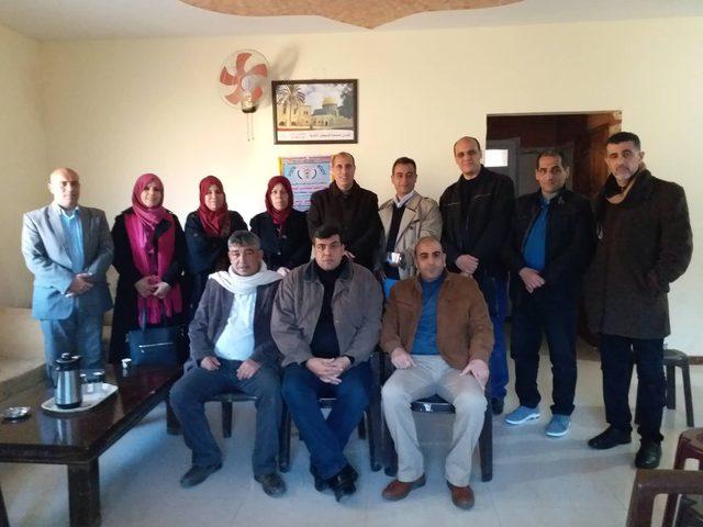 الحركيللصحفيينيلتقي قيادة إقليم شمال غزة ويزور الصحفي ابو جراد