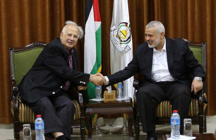 وصول رئيس لجنة الانتخابات المركزية لغزة