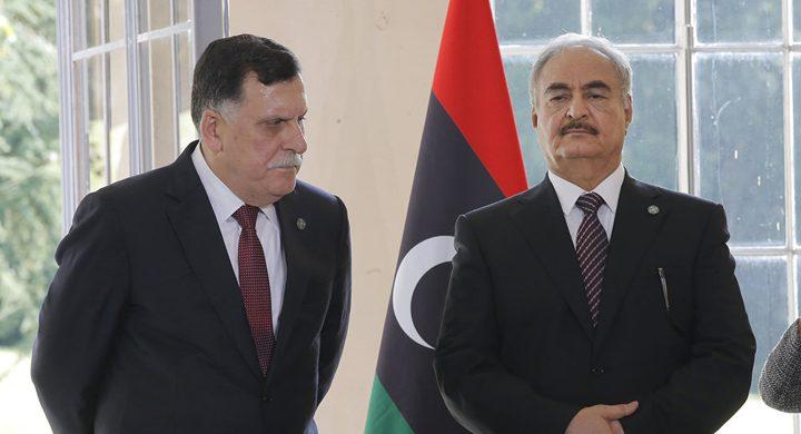ليبيا: لقاء حفتر والسراج في الامارات وصف بالتشاوري