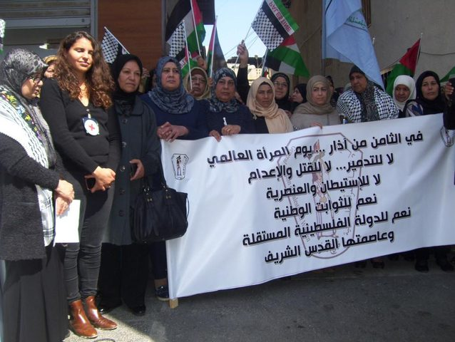إحياء يوم المرأة العالمي في المخيمات الفلسطينية بلبنان