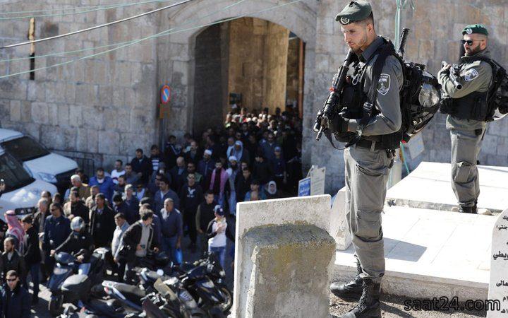 قوات الاحتلال تنتشر بشكل مكثف في محيط مصلى باب الرحمة