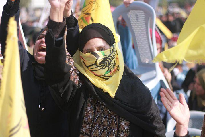 """""""فتح"""" تجدد ثقتها بقدرة المرأة الفلسطينية على إثبات وجودها"""