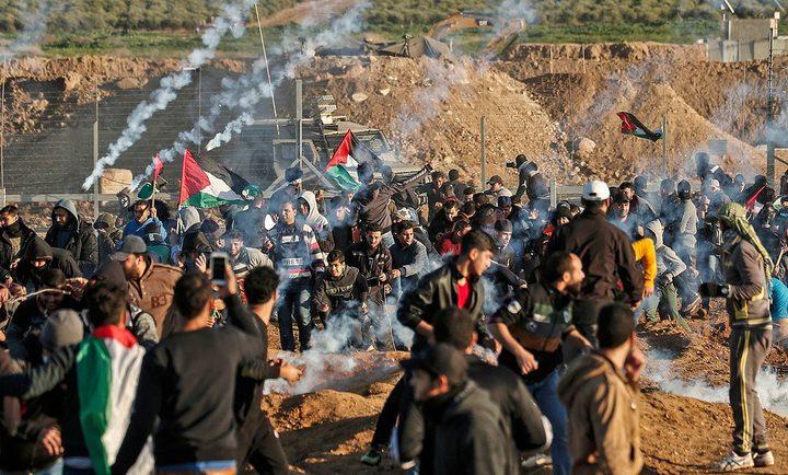 شهيد وإصابات بالرصاص إحداها خطيرة واخرى بالاختناق شرق قطاع غزة