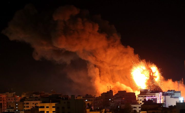 الطيران الحربي الإسرائيلي يشن سلسلة غارات على غزة