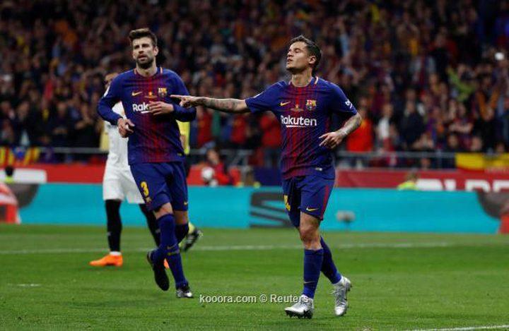 بيكيه يصرخ في وجه كوتينيو بمران برشلونة