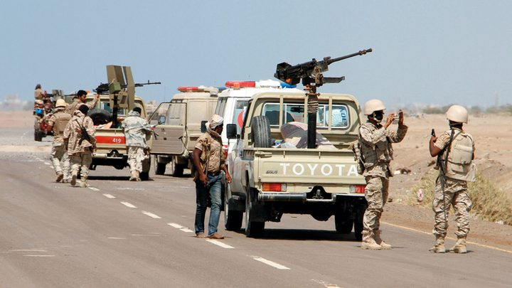 """اليمن:قوات العمالقة تعلن إحباط هجومين لـ""""أنصار الله"""" جنوب الحديدة"""