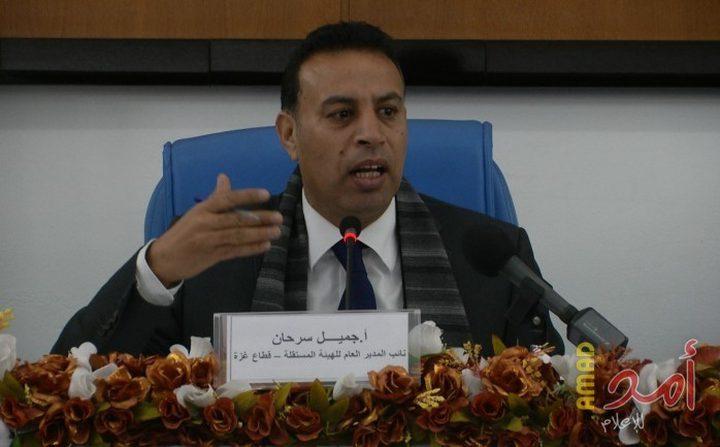 إصابة نائب مدير الهيئة المستقلة خلال قمع حماس مظاهرة بدير البلح