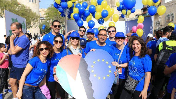 الاتحاد الأوروبي يشارك بماراثون فلسطين في بيت لحم