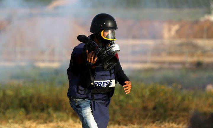 إصابة 3 صحافيين خلال تغطيتهم لمسيرات العودة شرق غزة
