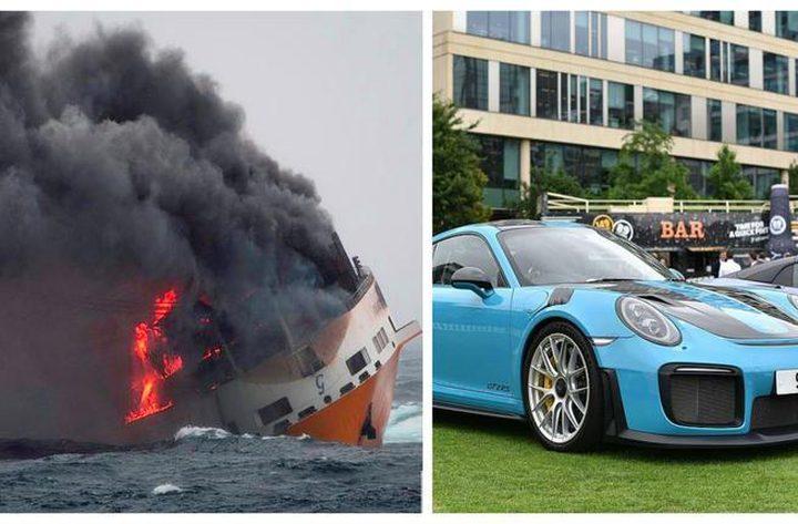 غرق باخرة محملة بآلاف السيارات الفارهة في المحيط الأطلسي