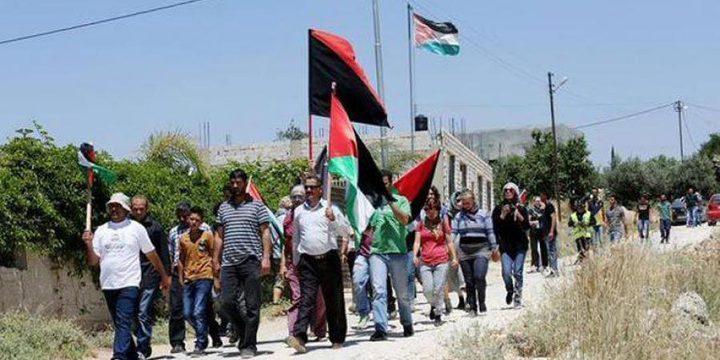 مسيرة نعلين تحيي ذكرى معركة الكرامة وتندد بمجازر الاحتلال