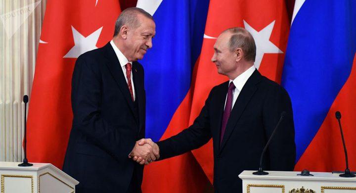 تركيا: زيارة أردوغان إلى روسيا متوقعة في 8 أبريل المقبل