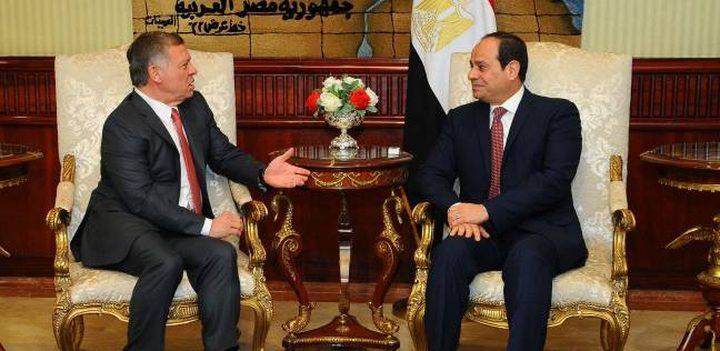 الملك عبد الله والسيسي يؤكدان ضرورة تكثيف الجهود لدعم فلسطين