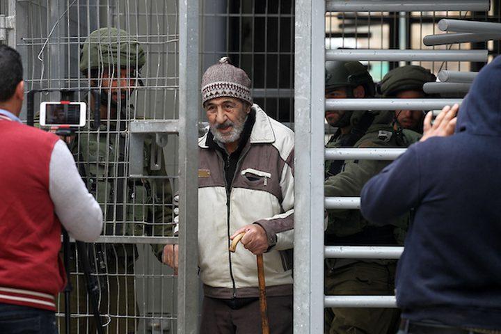 متظاهرون فلسطينيون يشاركون في احتجاج للاحتفال بالذكرى السنوية الثالثة لمقتل فلسطيني عبد الفتاح شريف على يد جنود إسرائيليين في مدينة الخليل بالضفة الغربية ، في 24 مارس 2019.