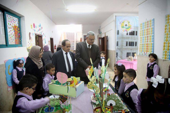 المحافظ أبو بكر يزور مدارس الإسراء النموذجية ورياضها