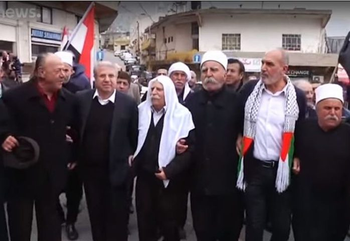 """الدروز يحتجون على دعم ترمب لـ""""سيادةإسرائيل"""" على الجولان"""