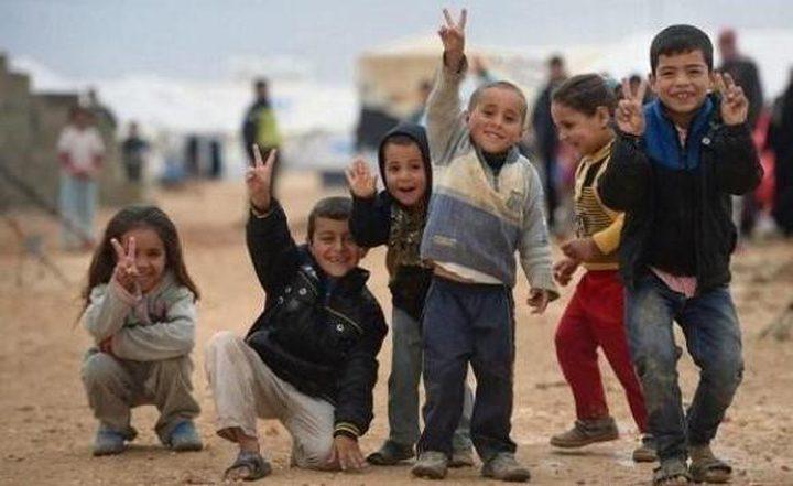 نصف اللاجئين في الأردن أطفال