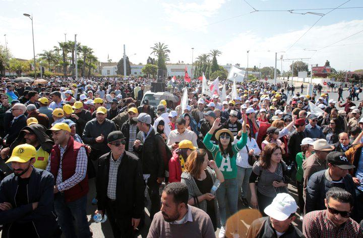 المغرب: مظاهرة للمعلمين تطالب بتحسين ظروف العمل