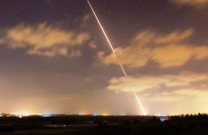 إطلاق قذائف صاروخية من غزة على مستوطنات غلاف غزة