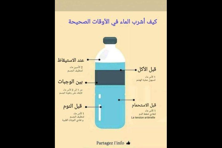 ما هي الأوقات الصحيحة لشرب الماء؟