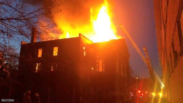 حريق كبير في متحف أميركي للوثائق النادرة