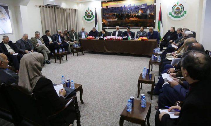 الوفد المصري يلتقي بالهيئة العليا لمسيرات العودة بغزة