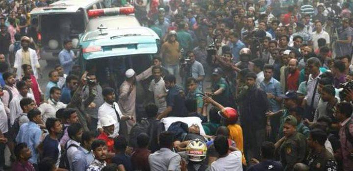 بنغلادش..حريق هائل يدفع السكان للقفز من النوافذ
