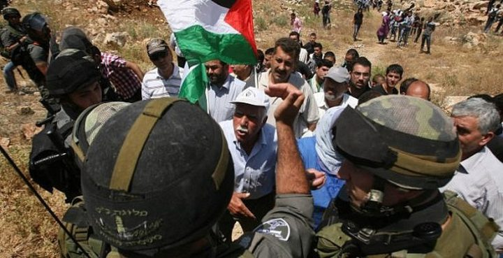 الاحتلال يقمع مسيرة لمناسبة يوم الأرض شمال نابلس