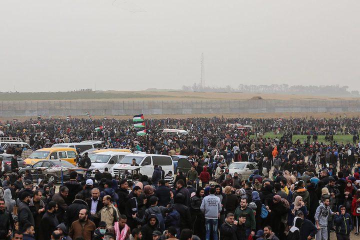 إصابة 7 صحفيين خلال تغطيتهم مليونية العودة شرق غزة