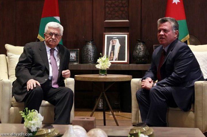 الرئيس عباس يجتمع مع العاهل الأردني