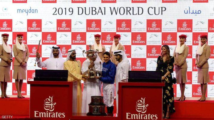 """""""ثاندر سنو"""" يتوج بكأس دبي العالمي للخيول"""