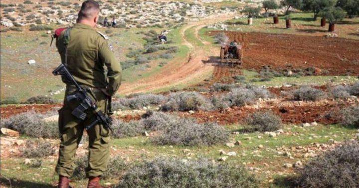 """""""الإدارة المدنية"""" الإسرائيلية تمسح أراضي في الأغوار الشمالية"""