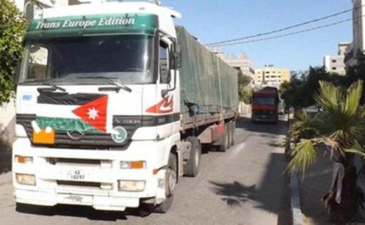 وصول شاحنة أردنية إلى غزة محملة بمستلزمات طبية وغذائية