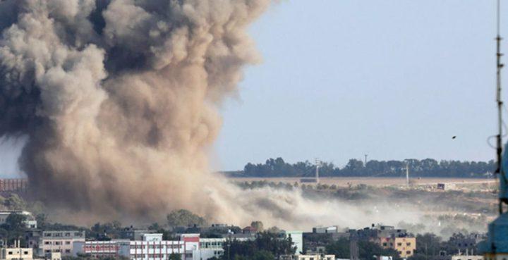 طائرات الاحتلال تستهدف مجموعة من المواطنين شرق مدينة غزة