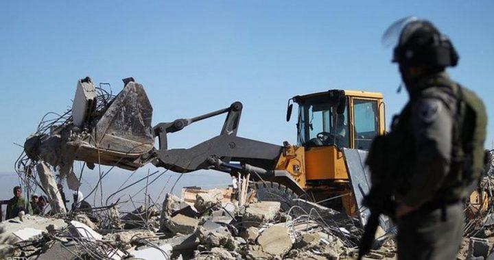الاحتلال يهدم منزلا في بيت جالا