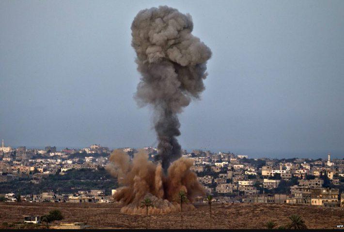 نجاة مجموعة شبان بعد استهدافهم من قبل طائرة مُسيرة للاحتلال