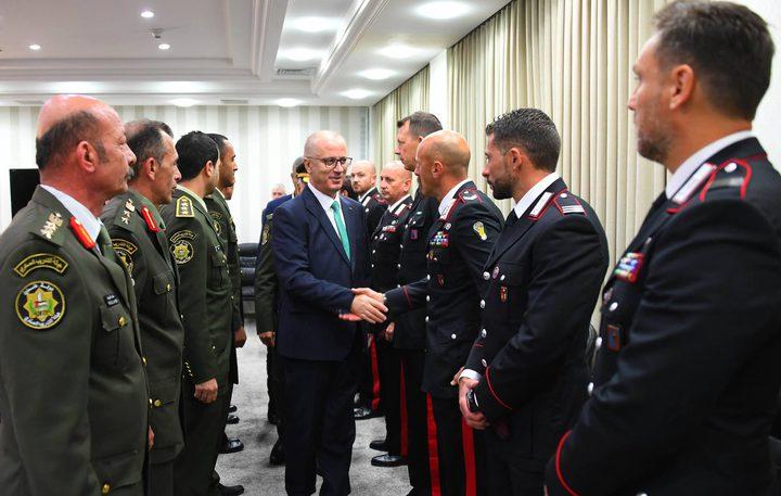الحمد الله يستقبل طاقم التدريب الأمني الايطالي