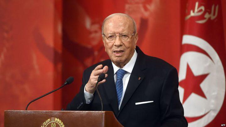 الرئيس التونسي يجدد دعم بلاده للشعب الفلسطيني وقضيته