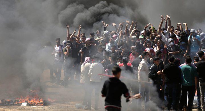اصابات برصاص الاحتلال الاسرائيلي شرق قطاع غزة