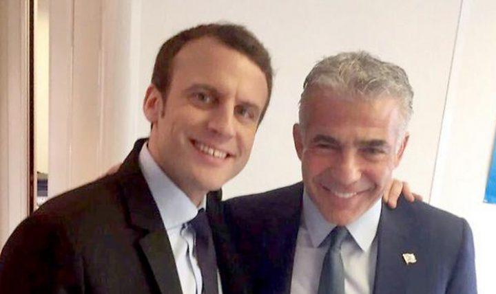 لبيد يزور باريس بدعوة من ماكرون