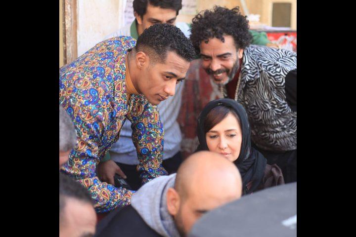 """أبطال """"زلزال"""" بفيلا أشرف عبد الباقى لتصوير المشاهد الداخلية"""