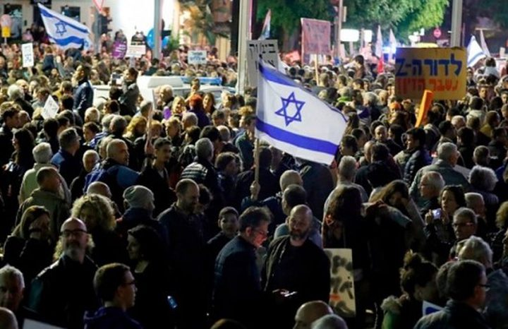 مستوطنو غلاف غزة يتظاهرون ضد نتنياهو