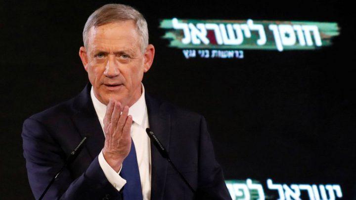 غانتس: القدس ستبقى عاصمتنا الموحدة ولا عودة لحدود 67