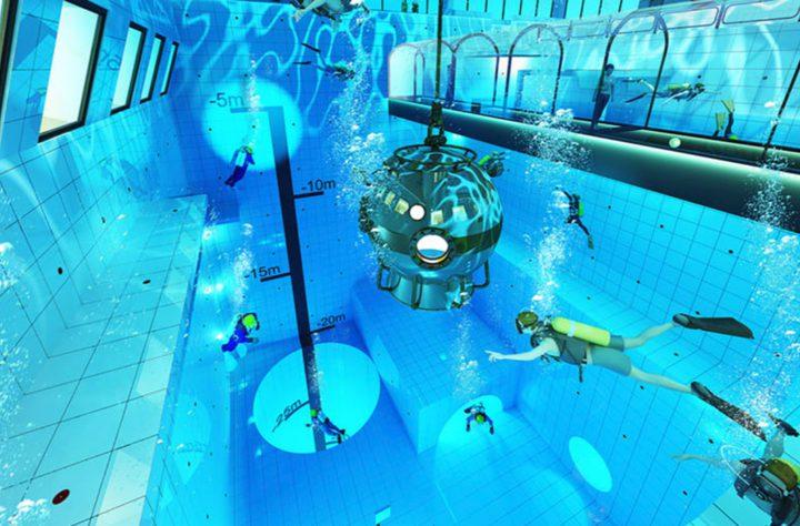 افتتاح أعمق مسبح في العالم (صور)