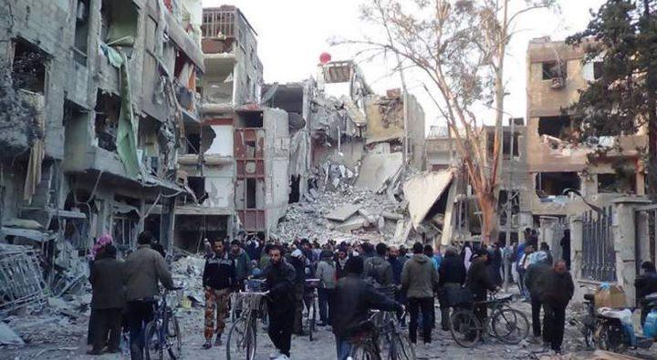 الشرطة العسكرية الروسية تعثر على مخبأ أسلحة لداعش في مخيم اليرموك